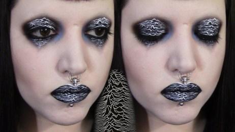 makijaż zainspirowany okładką Joy Division